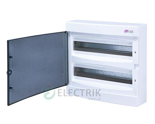Наружный модульный щит ECT 2x18PT 36 М с прозрачной дверцей ETI 001101081
