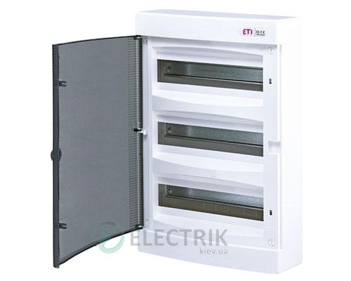 Наружный модульный щит ECT 36PT 36 М с прозрачной дверцей ETI 001101004