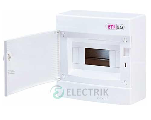 Наружный модульный щит ECT 8PO 8 М с белой дверцей ETI 001101005
