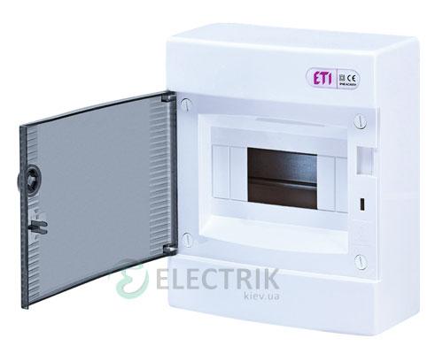 Наружный модульный щит ECT 8PТ 8 М с прозрачной дверцей ETI 001101000