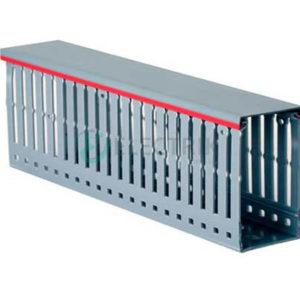 Перфорированный короб 80х60, шаг 20 мм, перфорация 8 мм, длина 2 м, серый, 00139RL