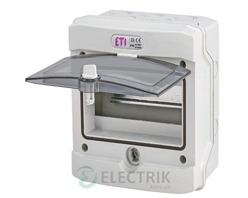 Пластиковый щит наружного исполнения ECH 8G (8 М IP65) ETI 001101061