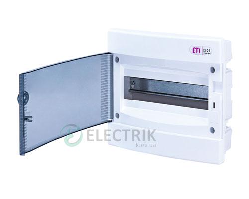 Встраиваемый щиток ECМ 12PT 12 М с прозрачной дверцей ETI 001101011