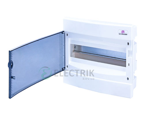 Встраиваемый щиток ECМ 18PT 18 М с прозрачной дверцей ETI 001101018