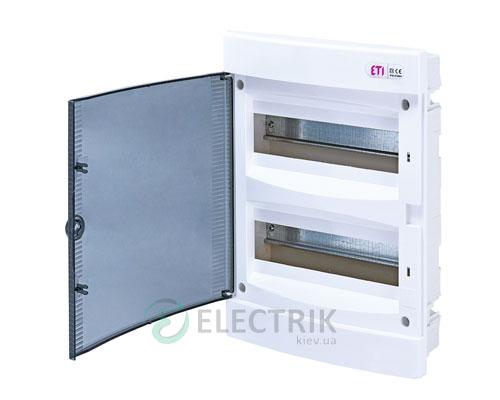 Встраиваемый щиток ECМ 24PT 24 М с прозрачной дверцей ETI 001101012