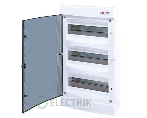 Встраиваемый щиток ECМ 36PT 36 М с прозрачной дверцей ETI 001101013