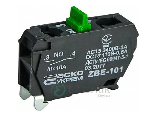 Дополнительный контакт ZBE-101 (НО) для кнопочных постов XAL-D, АСКО-УКРЕМ