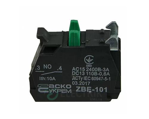 Дополнительный контакт ZBE-101 (НО) для кнопок TB5, АСКО-УКРЕМ