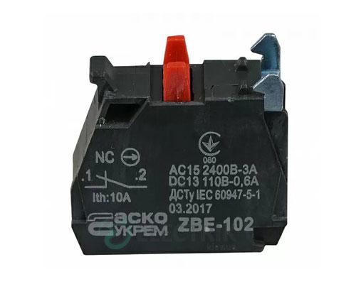 Дополнительный контакт ZBE-102 (НЗ) для кнопок TB5, АСКО-УКРЕМ