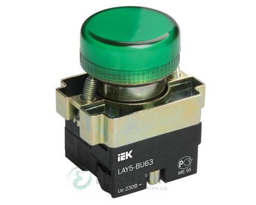 Индикатор LAY5-BU63 зеленый d22 мм, IEK