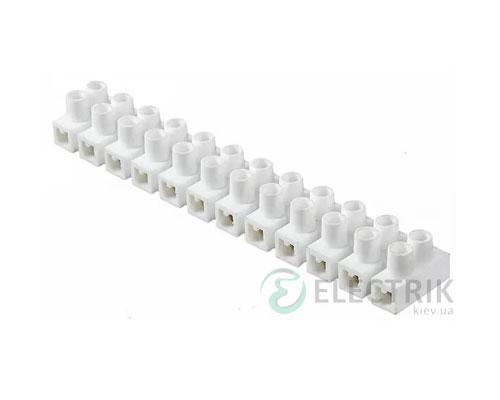 Клеммная колодка 12-парная 2,5-4 мм² / 3А серия H белая, АСКО-УКРЕМ