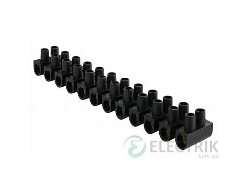 Клеммная колодка 12-парная 25 мм² / 60А серия U черная, АСКО-УКРЕМ