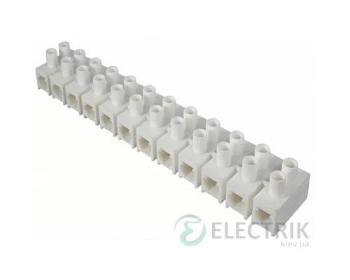 Клеммная колодка 12-парная 30 мм² / 80А серия H белая, АСКО-УКРЕМ