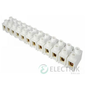 Клеммная колодка 12-парная 40 мм² / 150А серия H белая, АСКО-УКРЕМ