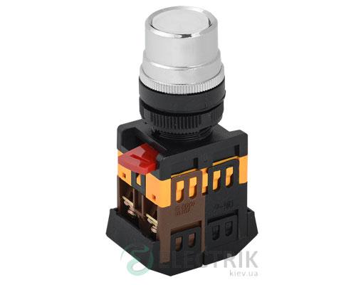Кнопка ABLF-22 неон d22 мм белая 240В 1з+1р, IEK