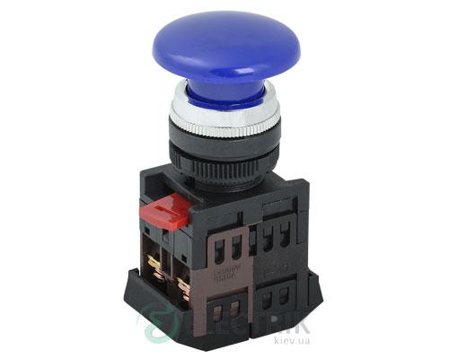 """Кнопка AEA-22 """"грибок"""" d22 мм синяя 1з+1р, IEK"""