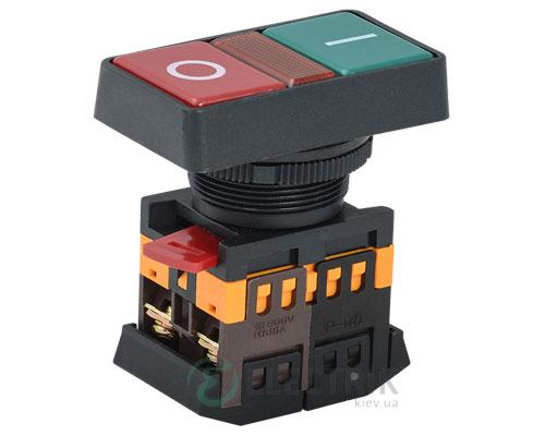 """Кнопка PPBB-30N """"I-0"""" неон d30 мм 240В 1з+1р, IEK"""
