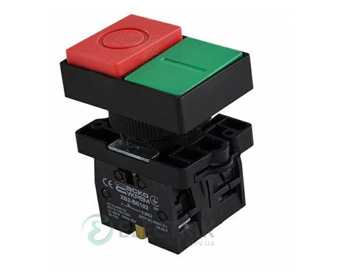 Кнопка двойная «ПУСК/СТОП» без фиксации (1НО+1НЗ) LAY5-EL8425, АСКО-УКРЕМ
