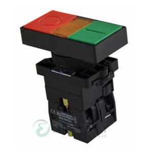 Кнопка двойная с подсветкой «ПУСК/СТОП» без фиксации (1НО+1НЗ) LAY5-EW8365, АСКО-УКРЕМ