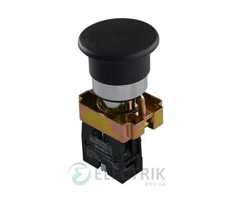 Кнопка «грибок» (d 40 мм) без фиксации (1НО) черная XB2-BC21, АСКО-УКРЕМ