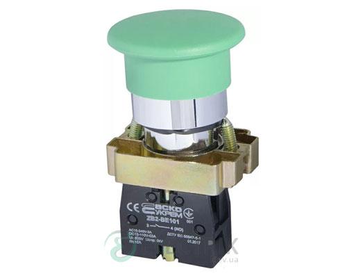 Кнопка «грибок» (d 40 мм) без фиксации (1НО) зеленая XB2-BC31, АСКО-УКРЕМ