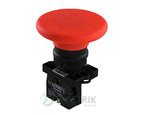 Кнопка «грибок» (d 60 мм) без фиксации (1НЗ) красная LAY5-ER42, АСКО-УКРЕМ