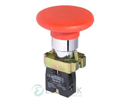 Кнопка «грибок» (d 60 мм) без фиксации (1НЗ) красная XB2-BR42, АСКО-УКРЕМ