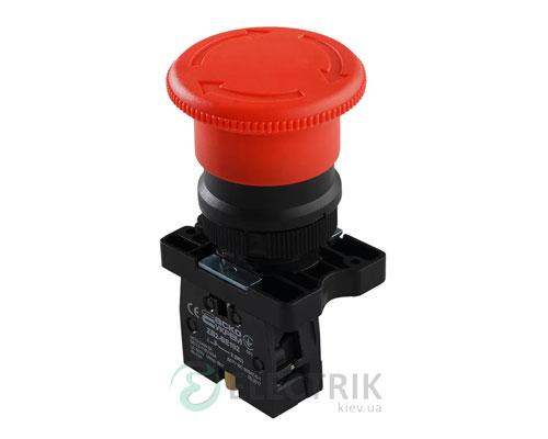 Кнопка «грибок» с фиксацией (1НЗ, возврат поворотом) LAY5-ES542, АСКО-УКРЕМ