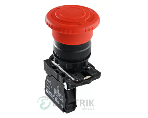Кнопка «грибок» с фиксацией (1НЗ, возврат поворотом) TB5-AS542, АСКО-УКРЕМ