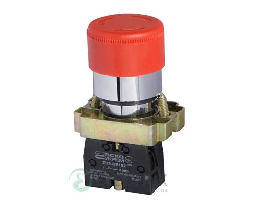 Кнопка «грибок» с фиксацией (1НЗ, возврат поворотом) XB2-BS442, АСКО-УКРЕМ