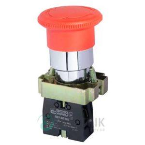 Кнопка «грибок» с фиксацией (1НЗ, возврат поворотом) XB2-BS542, АСКО-УКРЕМ