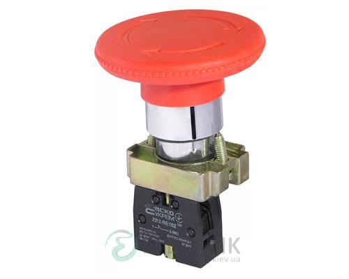 Кнопка «грибок» с фиксацией (1НЗ, возврат поворотом) XB2-BS642, АСКО-УКРЕМ