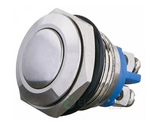Кнопка металлическая (1НО) TY16-231A Scr, АСКО-УКРЕМ