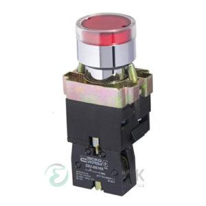Кнопка с подсветкой без фиксации (1НЗ) красная XB2-BW3471, АСКО-УКРЕМ