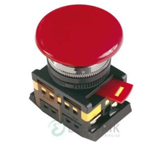 """Кнопка AEAL-22 """"грибок"""" с фиксацией d22 мм красная 240В 1з+1р, IEK"""