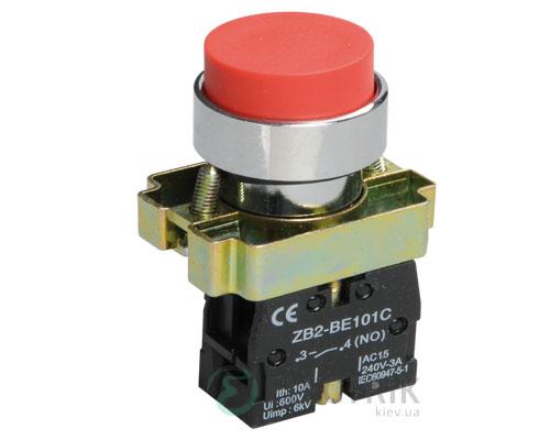 Кнопка управления LAY5-BL41 без подсветки красная 1з, IEK