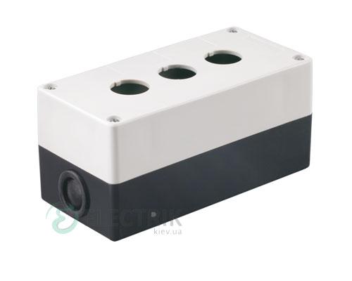 Корпус КП103 для кнопок 3 места белый, IEK