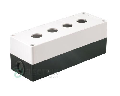 Корпус КП104 для кнопок 4 места белый, IEK