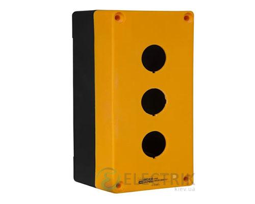 Корпус поста управления 3-местный HJ9-3 желтый, АСКО-УКРЕМ