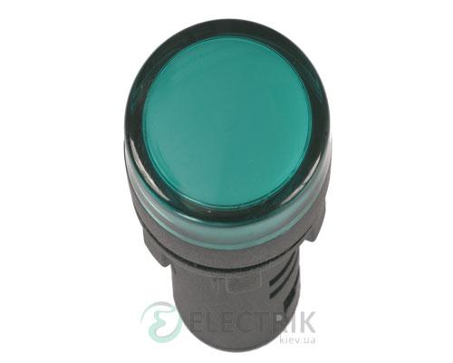 Лампа AD-16DS LED-матрица d16 мм зеленая 230В AC, IEK