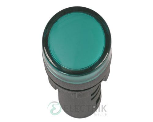 Лампа AD-16DS LED-матрица d16 мм зеленая 24В AC/DC, IEK