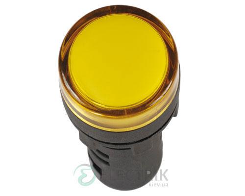 Лампа AD-16DS LED-матрица d16 мм желтая 24В AC/DC, IEK