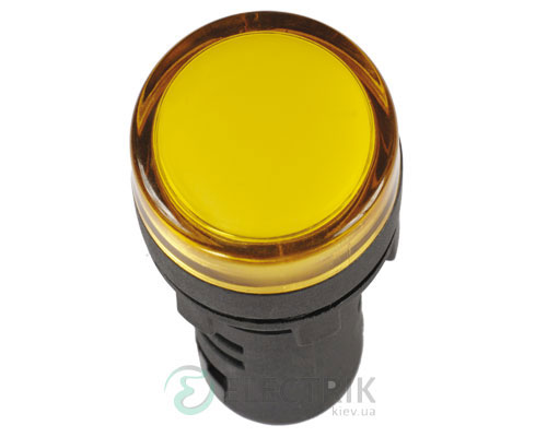 Лампа AD-16DS LED-матрица d16 мм желтая 36В AC/DC, IEK