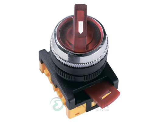 Переключатель ANCLR-22-3 на 3 фиксированных положения I-O-II неон красный 240В 1з+1р, IEK