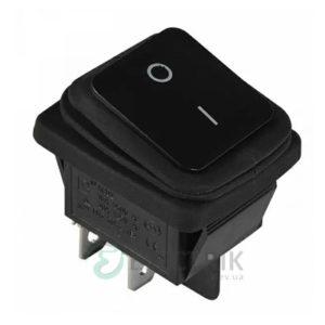 Переключатель KCD2-201W B/B 2-полюсный черный с черной клавишей IP54, АСКО-УКРЕМ