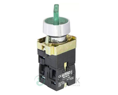 Переключатель на 2 положения с подсветкой зеленый XB2-BK2365, АСКО-УКРЕМ