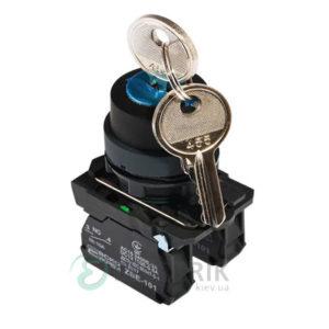 Переключатель на 3 положения с ключом TB5-AG33, АСКО-УКРЕМ