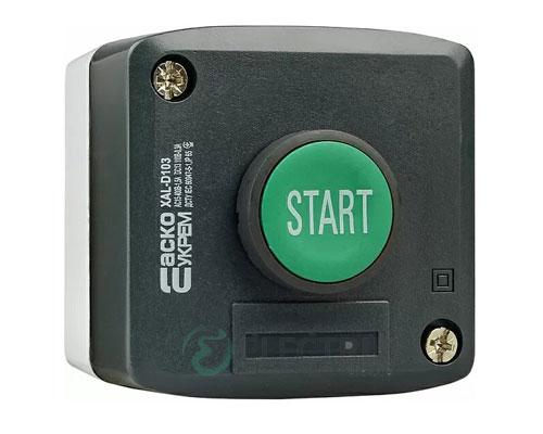 Пост кнопочный одноместный «ПУСК» XAL-D103, АСКО-УКРЕМ