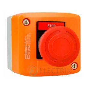 Пост кнопочный одноместный «СТОП» грибок с фиксацией (возврат поворотом) XAL-D174, АСКО-УКРЕМ