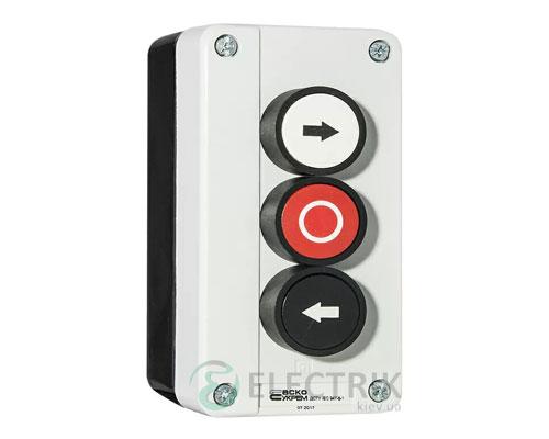 Пост кнопочный трехместный «ВЛЕВО-СТОП-ВПРАВО» XAL-B334, АСКО-УКРЕМ